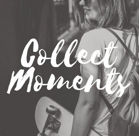 enjoyment: Collect Moments Adventure Enjoyment Explore Concept