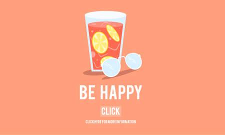 be: Be Happy Lifestyle Leisure Enjoy Concept Stock Photo