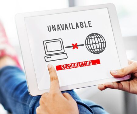 discontinued: Unavailable Denied Disconnected Error Problem Concept Stock Photo