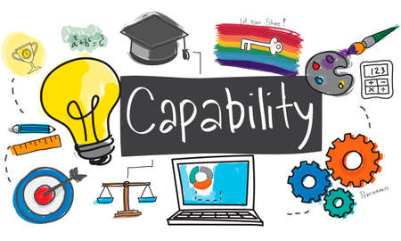 capability: Ability Capability Creativity Drawing Icon Illustration Concept Stock Photo