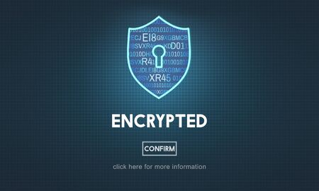 online privacy: Encrypted Data Privacy Online Security Protection Concept
