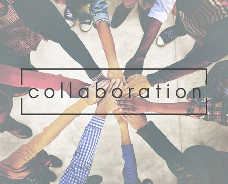 collaborate: Collaboration Collaborate Connection Corpoate Concept Stock Photo