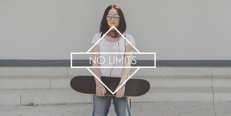 free thinking: No Limits Free Inspire Positive Thinking Success Concept
