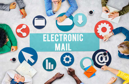 electronic mail: Electronic Mail Online Connection Messaging Concept Stock Photo