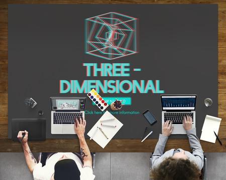 graphic designing: 3D Three Dimensional Futuristic Display Modern Concept