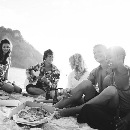 springbreak: Party Celebration Friendship Beach Festival Concept Stock Photo