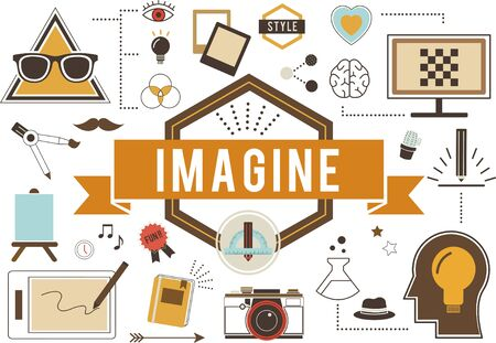 expect: Imagine Creative Thinking Vision Dream Expect Concept