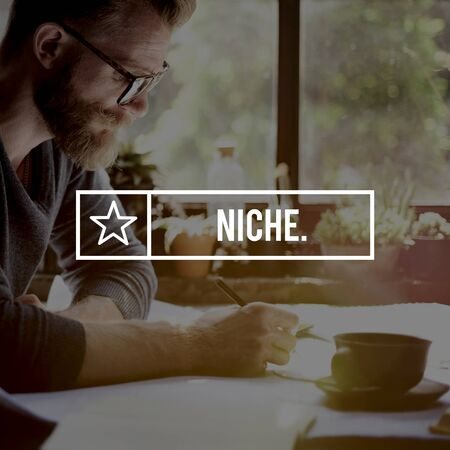 speciality: Niche Market Branding Speciality Target Business Concept Stock Photo