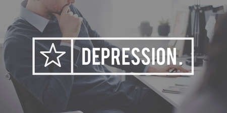 financial crisis: Depression Disorder Financial Crisis Problem Concept