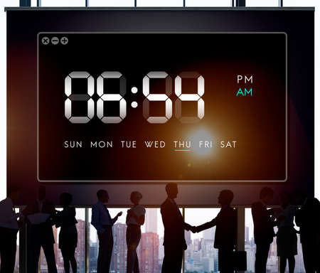 Duration: Clock Duration Time Leisure Hour Concept