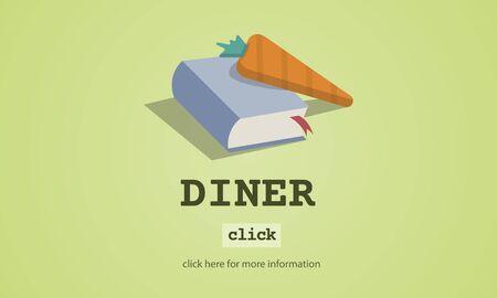 Diner Cook Book Meal Preparation Concept