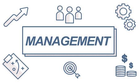 coordinacion: Líder de Negocios Gestión de Coordinación concepto gráfico