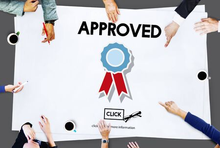autoridad: Approved Accept Agreement Authority Document Concept
