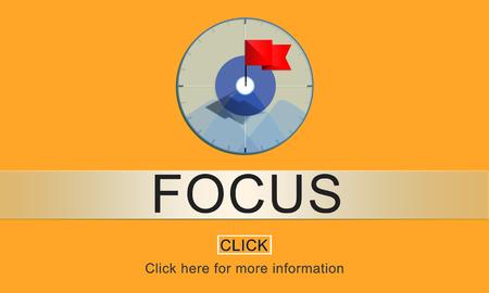 to determine: Focus Determine Focal Point Spotlight Vision Concept