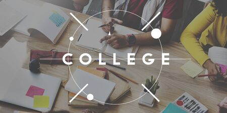 educational institution: College Education Knowledge Insight Studying Learning Concept