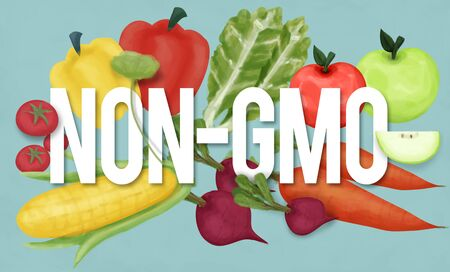 genetically modified crops: Non-GMO Nature Organic Plant Technology Concept