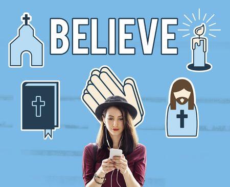 believe: Believe Faith Individuality Mindset Spirituality Concept