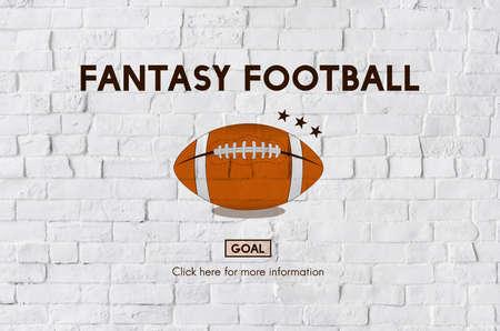 football coach: Fantasy Football Ball Rugby Game Concept