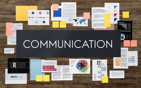 communicate: Communication Communicate Discussion Conversation Concept Stock Photo