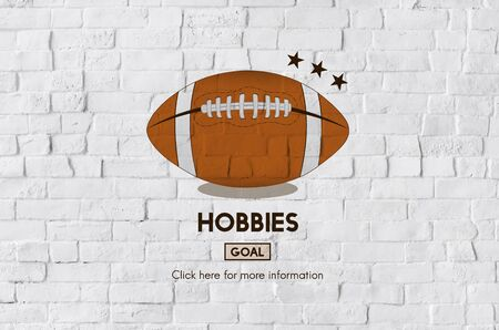 hobby: Hobbies Football Ball Rugby Game Concept Stock Photo