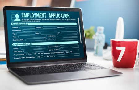web application: Online Web Job Application Form Concept