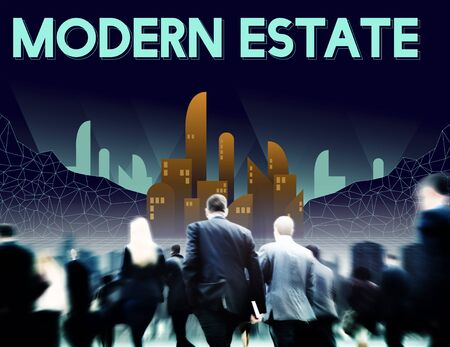 modernity: Modern Estate Modernity Skyscraper Building Concept