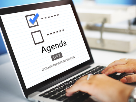organize: Checklist Choices To Do Audit Evaluation Concept Stock Photo