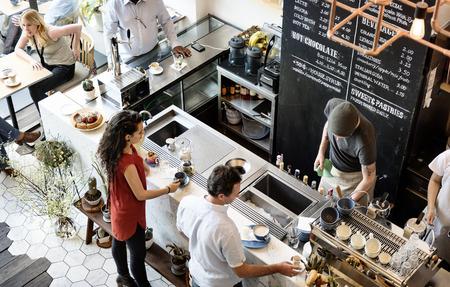 Café Bar Counter Cafe Restaurant Ontspanning Concept Stockfoto