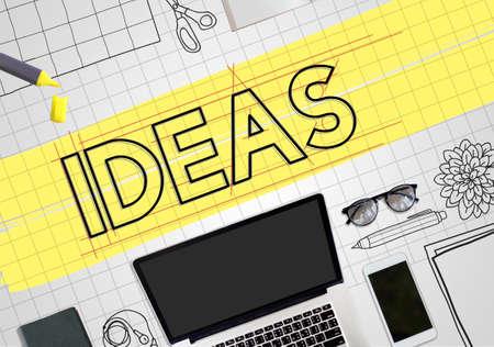 draft: Ideas Creative Design Draft Graphic Concept