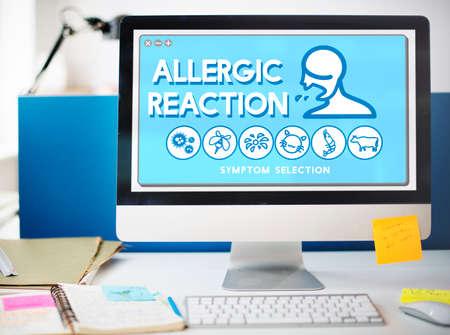 trastorno: Trastorno de Alergia Reacci�n al�rgica concepto del cuidado m�dico Enfermedad