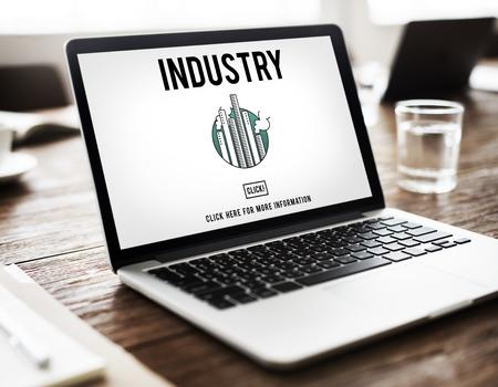 building sector: Industry Buildings General Business Enterprise Concept Stock Photo