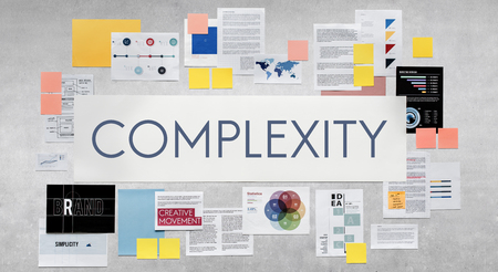 complicated: Complextiy Confuse Complicated Disorder Intricate Concept