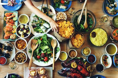 料理料理料理グルメ ビュッフェ パーティー コンセプトをケータリング