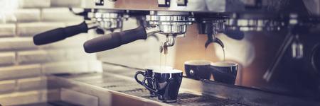 steam machine: Coffee Machine Making Cup Steam Cafe Grinder Concept Stock Photo