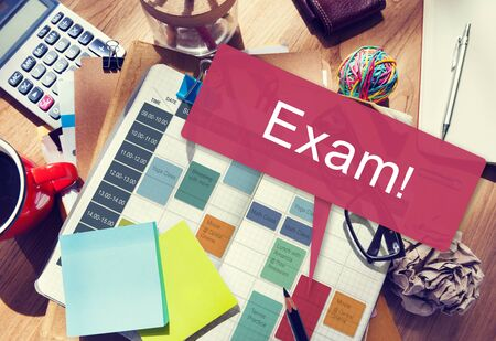 acordarse: Exam Schedule Education Planning Remember Concept