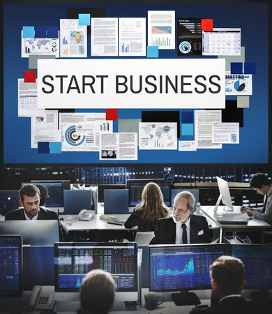 stock market launch: Start Business Aspirations Mission Opportunity Concept