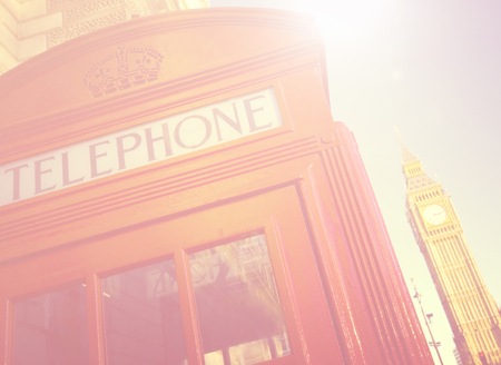 telephone booth: Telephone Booth Big Ben Travel Destinations Concept