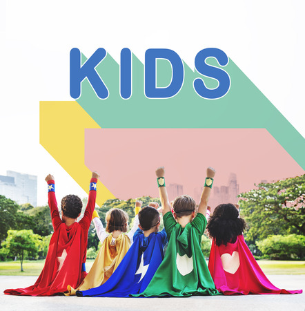 Kids Children Childhood Youth Concept Stock Photo