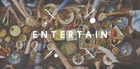 Entretenimiento Celebración Alimento del partido delicioso Comer Foto de archivo