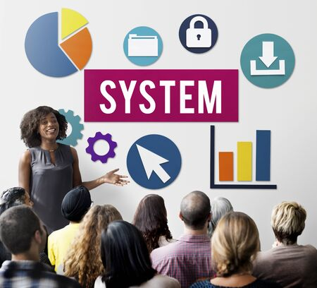 trainee: System Structure Technology Graphic Concept Stock Photo