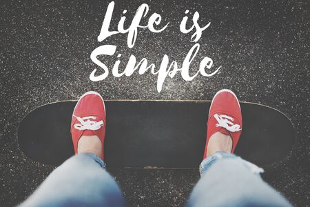 simple life: Life is Simple Being Enjoy Mind Relax Balance Concept