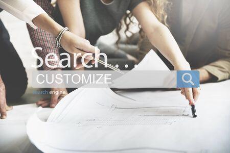 modificar: Customize Create Innovate Modify Creativity Concept