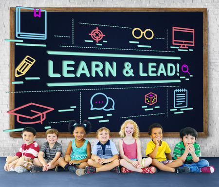 learn and lead: Learn Lead Coach Education Improvement Director Concept Stock Photo