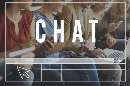 socialise: Chat Comunication Blog Chatting Website Concept
