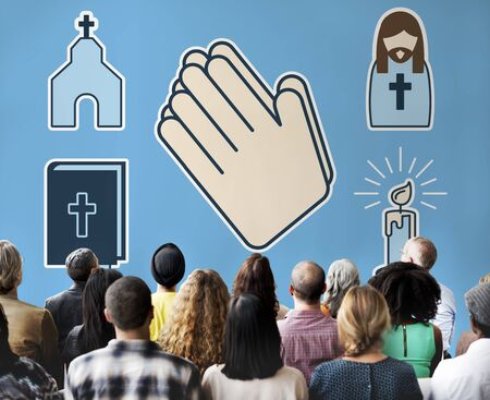 cristianismo: Cristianismo Culto religi�n rezar Cross Concept