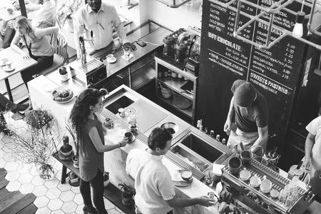 Coffee Shop Bar Counter Cafe Restaurant Relaxation Concept Фото со стока