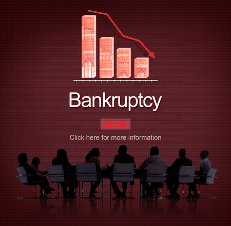 owed: Bankruptcy Debt Loan Owed Payment Trouble Concept