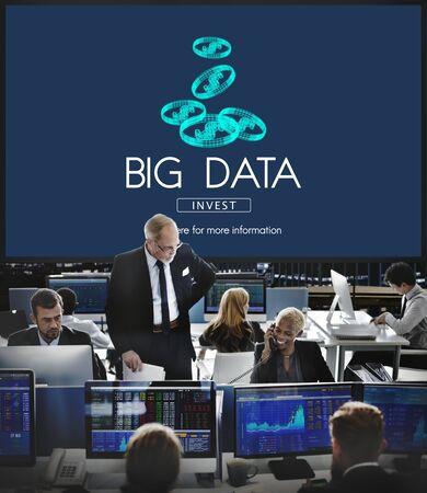 hectic: Big Data Digital Information Network Storage Concept Stock Photo