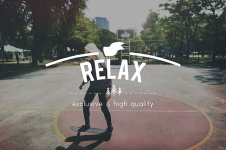 chill: Reax Relaxation Chill Rest Wellness Concept