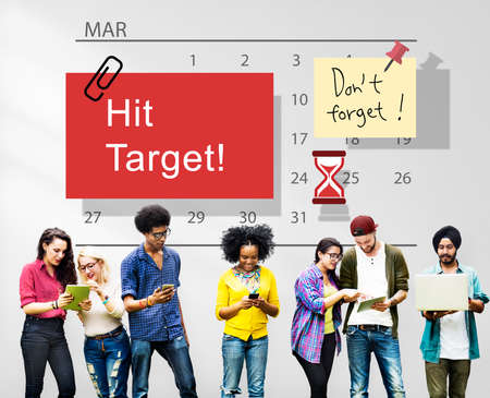 hit: Hit Target Schedule Organizer Plan Concept